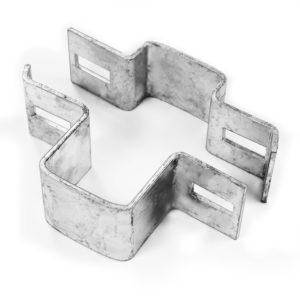 Mittelschelle Verbindungsschelle für Rechteckpfosten zweiteilig